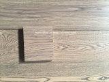 suelo de madera dirigido tablón ancho gris claro del espesor de 15-18m m