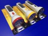 휴대용 소형 2개의 힘 태양 전지판 LED 토치