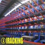 Crémaillère en porte-à-faux réglable lourde d'entrepôt/système en porte-à-faux de défilement ligne par ligne