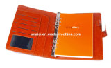 Livre personnalisé réutilisé d'agenda de feuilles mobiles de caisse d'unité centrale pour le cadeau