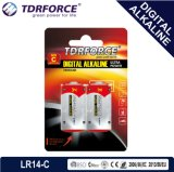 pile sèche de fabrication de la pile alcaline Lr14-C Size-Am2 de 1.5V Digitals