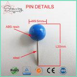 Свободно перевозка груза 20mm покрасила пластичный круглый Pin нажима корабля щариковой головки DIY для домашнего украшения