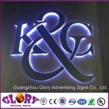 Montagem em parede personalizado Square Sinal LED acrílico comercial