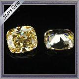 방석 카나리아 빛 다이아몬드 색깔 입방 지르코니아