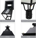 2018 Inicio Venta IP66 30W de aluminio fundido Ce Post Jardín LED Luz superior