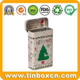 Изготовленный на заказ подарок конфеты упаковывая прямоугольную прикрепленную на петлях коробку олова мяты камеди
