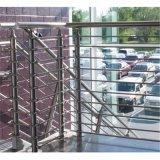 Douane 304 316 Roestvrij staal 8mm de Stevige Kosten van het Traliewerk van de Trede/van het Balkon van de Staaf
