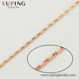 44455 Hombre de moda joyas collar de color oro rosa