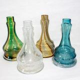 يصدّ نارجيلة زجاجيّة إلى أسفل زجاجة لأنّ نارجيلة عصا زجاجيّة [سموك بيب] مصغّرة إلكترونيّة [سغرتّ] زجاجيّة [وتر بيب] [إ-سغرتّ] [فبوريزر] نارجيلة [شيشا]