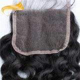 le lacet de cheveu de Remy de mode rapièce le frontal de lacet de fermeture de lacet