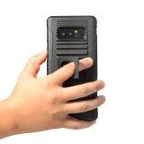 Arrivall neuf 3 dans 1 caisse raboteuse lourde de téléphone de type de future armure militaire de stand pour la caisse de support de téléphone de véhicule de la note 8 de Samsung