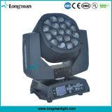 19ПК 15W Big Bee Eye 4в1 RGBW LED перемещение головки блока цилиндров