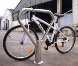 지면 - 거치된 자전거 주차 선반 자전거 대