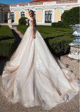 Champagne robes de mariée robe de mariée de sequins sans manches H5207