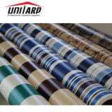La tela incatramata a strisce del PVC, la tela incatramata a strisce del PVC, PVC ha ricoperto il tessuto della tela incatramata