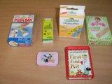Цветные полосы мультфильмов помощи, оказание первой помощи гипса для детей
