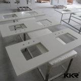 Salle de bains moderne de la résine de pierre de la vanité de meubles haut de page