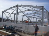 Estructura de acero prefabricada galvanizada del tratamiento para el taller