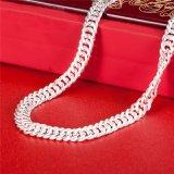人の宝石類が付いているS999純銀製のネックレス