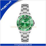 高品質のステンレス鋼の有名なブランドの腕時計の日本人の動き