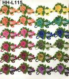 Вышивка изготовления фабрики Multicolor конструирует шнурок цветка 3D