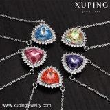 43455 Xuping indio simple collar chapado en oro de los cristales de Swarovski Collar de terrarios de vidrio