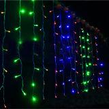 4*0.6m 144 luzes da corda da cortina das luzes da cortina do diodo emissor de luz com o conetor masculino e fêmea