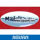 Etiqueta engomada redonda clara de encargo ambiental de la bóveda de la resina de epoxy