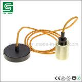Weinlese, die Lampen-Halter-Messinganhänger des hängenden hellen Installationssatz-E27 Retro hängt