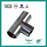 Accessorio per tubi sanitario del T dell'uguale della saldatura dell'acciaio inossidabile