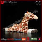 Giraffe macio enchido do brinquedo do luxuoso animal realístico para miúdos/crianças
