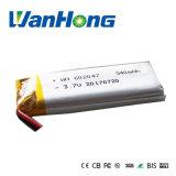 602047pl 540mAh bateria de polímero de lítio Rechageable para GPS/MP3