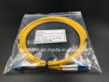 광섬유 Patchcord 섬유 연결관 LC/PC-LC/PC G652D 극성 십자가 유형