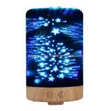 Aromatherapyオイルの拡散器3Dの加湿器の星夜ライト