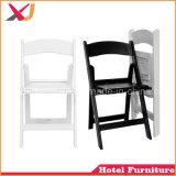 Résine de chaise pliante en plastique blanc pour la fête de mariage événement