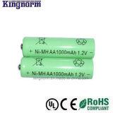 低い自己放電AA 1000mAhのニッケル金属水素化合物電池