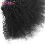 Закрытие верхней части волос девственницы скручиваемости более дешевого Afro волос Yvonne Kinky