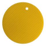 Hittebestendige Mat van het Patroon van de Honingraat van het Silicone van het keukengerei de rond Gevormde