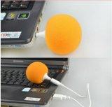 Bewegliche bunte 3.5mm Schwamm-Kugel-Musik-Miniaudiolautsprecher für Tablette-Handy-Laptop MP4