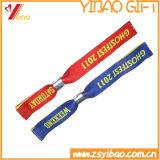 주문 로고에 의하여 길쌈되는 직물 팔찌 /Wristband (YB-SM-16)