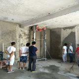 Het Pleisteren van de Muur van de Bouwwerf Elektrische Machine