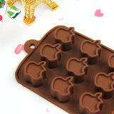 Прессформа 100% силикона силикона 15-Cavity Apple качества еды для прессформы кремния шоколада