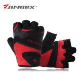 適性半分指の重量挙げの革スポーツ用品の手袋