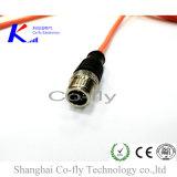 2, 3, 4, 5, 6, 8pin отлитый в форму мужчиной разъем кабельного соединителя экрана M8 водоустойчивый