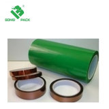 Grünes Polyesterc$hallo-temp-selbsthaftendes Kreppband-Multi-Sized Ideal für Farbanstrich, Puder-Beschichtung, anodisierend