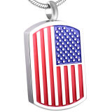 재를 위한 미국 국기 로고 조각 장방형 군번줄 화장 펜던트