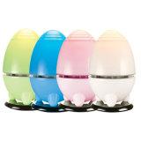 Ambientador de aire Egg-Shaped lindo con Liight ULTRAVIOLETA
