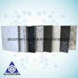 Panneaux composés personnalisés de nid d'abeilles de placage de pierre de marbre d'épaisseur de 3mm