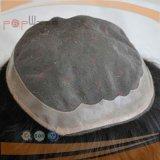 인도 머리 PU 국경 Mens Toupee (PPG-l-01376)