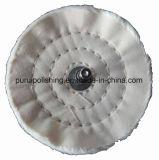 """roue de polissage de polissage montée de coton du point 4 """" X1/2 """" pour le métal"""